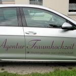 PKW-Beschriftung für Agentur Traumhochzeit in Esslingen