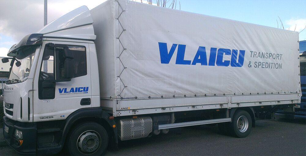 Planenbeklebung für Fa. Vlaicu Transporte aus Tamm