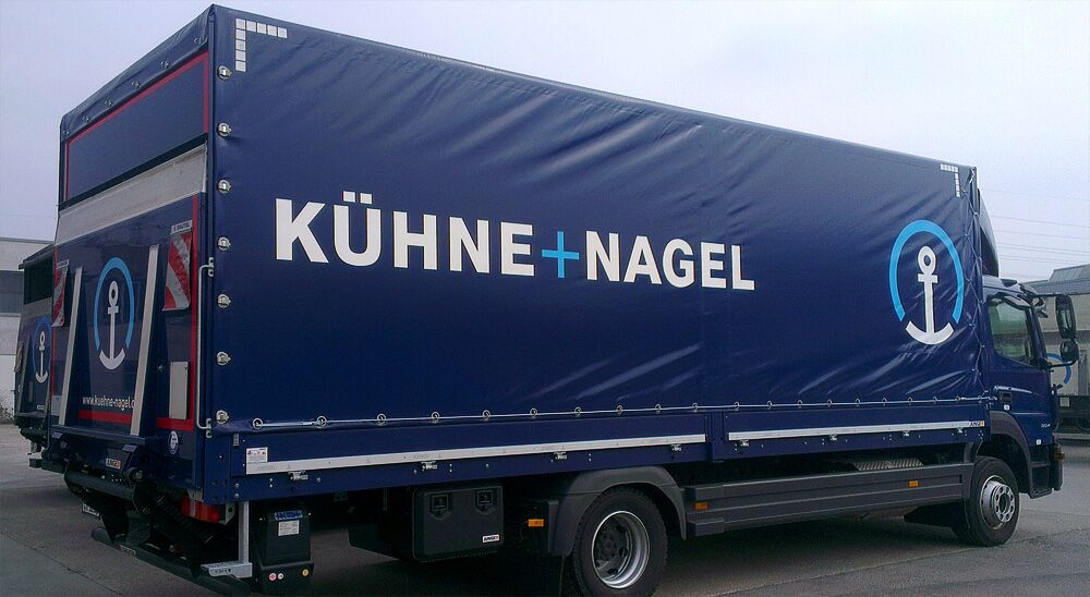 Planenbeschriftung, LKW-Beschriftung für Fa. Kühne+Nagel in Gärtringen