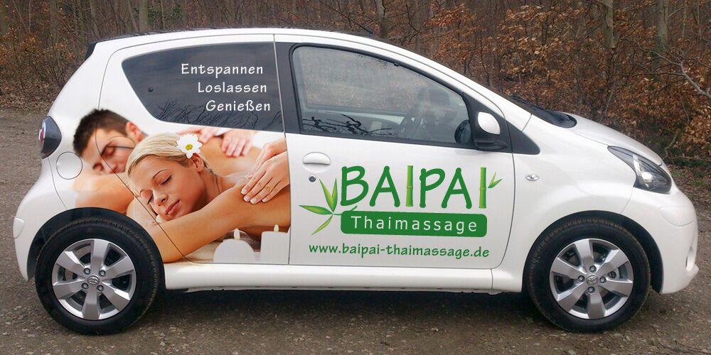 Teilfolierung bzw. Teilbeklebung für BaiPai Thaimassage in Esslingen