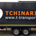 Anhängerbeschriftung bzw. LKW-Beschriftung für Tchinarian Transporte GmbH in Tamm