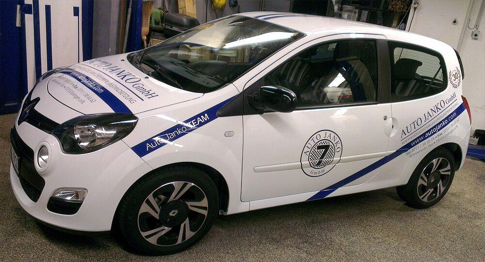 Fahrzeugbeschriftung, Autobeschriftung für Auto Janko GmbH in Esslingen