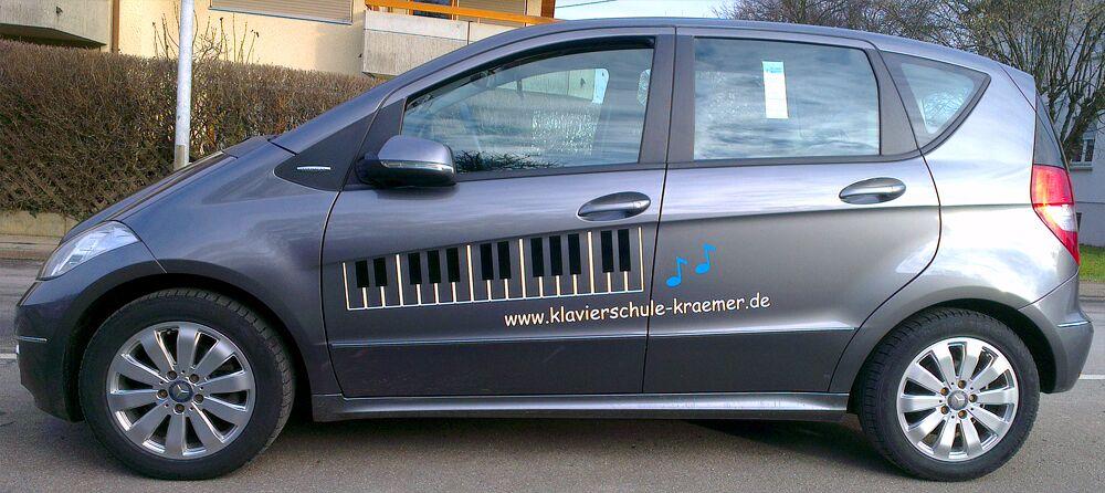 Autobeschriftung bzw. Fahrzeugbeschriftung für Klavierschule in Filderstadt