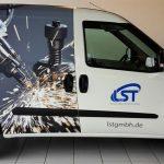Fahrzeugbeschriftung im Digitaldruck für LST-Süd GmbH in Schwäbisch Gmünd