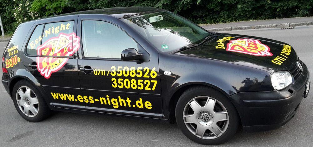 Autobeschriftung bzw. Fahrzeugbeschriftung für Ess Night in Esslingen