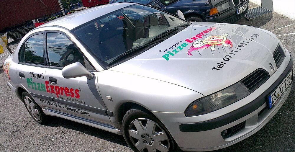 Fahrzeugfolierung, Autofolierung für Pizzaservice in Esslingen