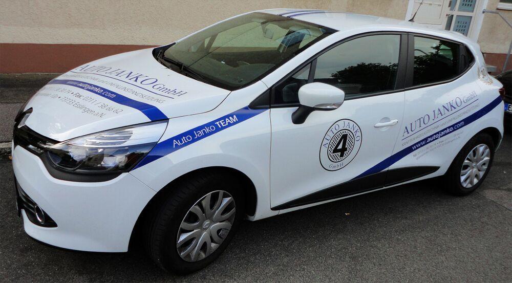 Pkw-Beschriftung, Kfz-Beschriftung für Auto Janko GmbH in Esslingen